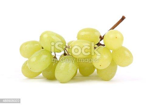 Yellow grape on white background