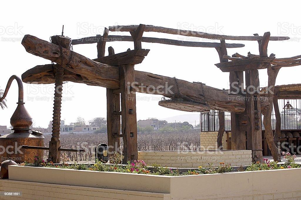 Grape Press at Peruvian Winery stock photo