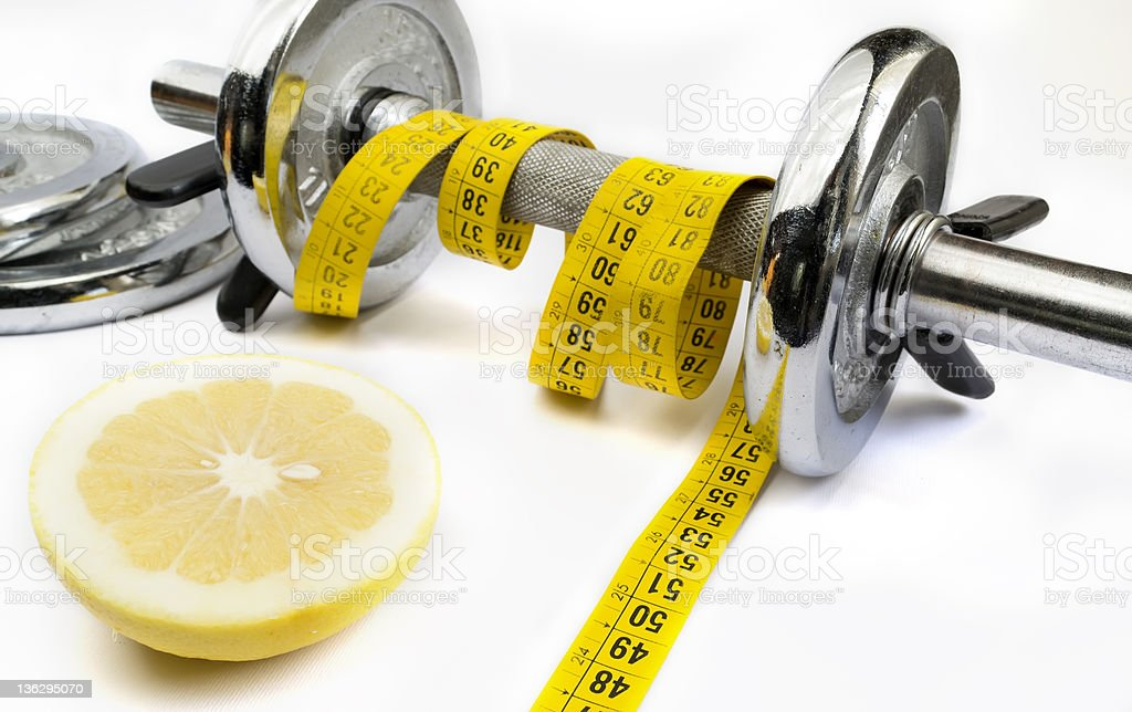 grapefruit and fitness royalty-free stock photo