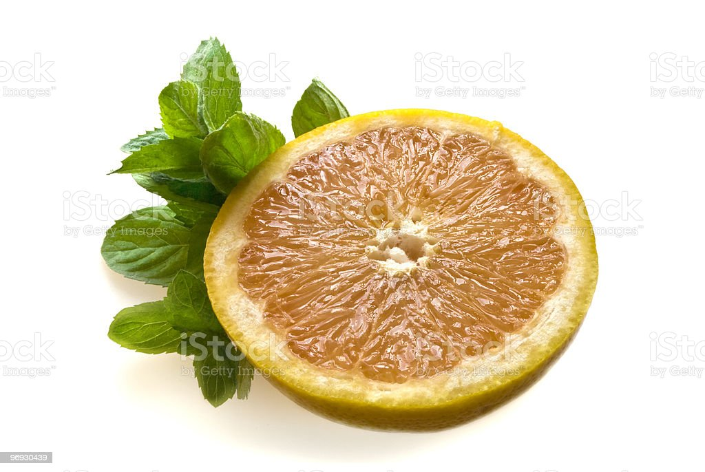 grapefruit and mint royalty-free stock photo