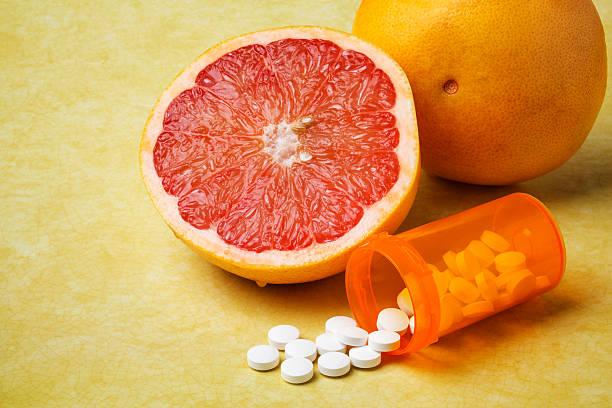 Grapefruit and Prescription Medication stock photo