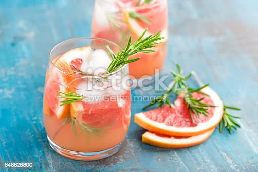 istock Grapefruit and rosemary gin cocktail, refreshing drink with ice 646828800