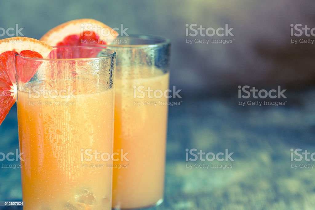 Grapefruit and Tequila Paloma Cocktail stock photo