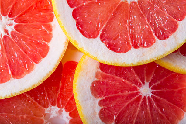 grapefruit background stock photo