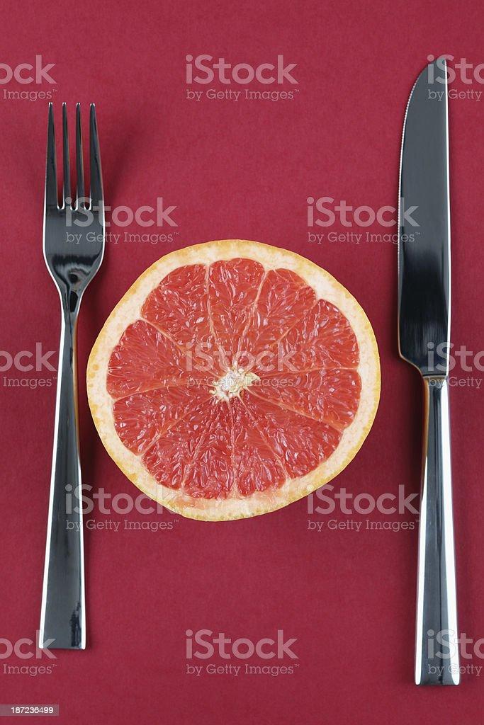 Grapefruit diet royalty-free stock photo