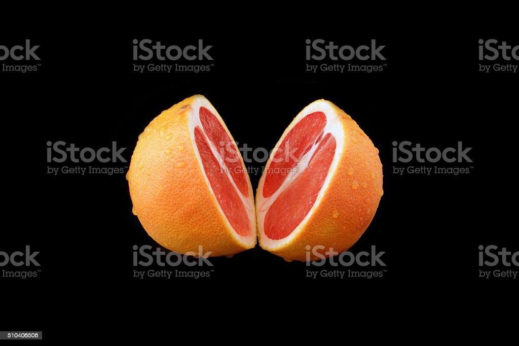 grapefruit geschnitten stock photo