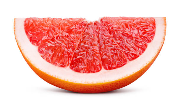Grapefruit. Grapefruit isolated on white background. With clipping path. stock photo