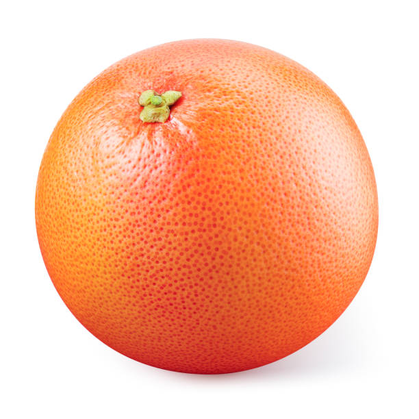 grapefruit isolated. grapefruit on white background. with clipping path. full depth of field. - grapefruit stock photos and pictures