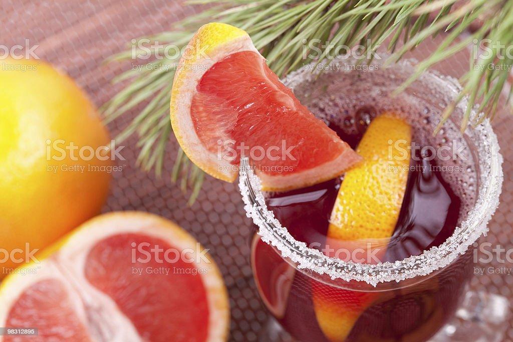 Grapefruit Mulled Wine (Punch) royalty-free stock photo