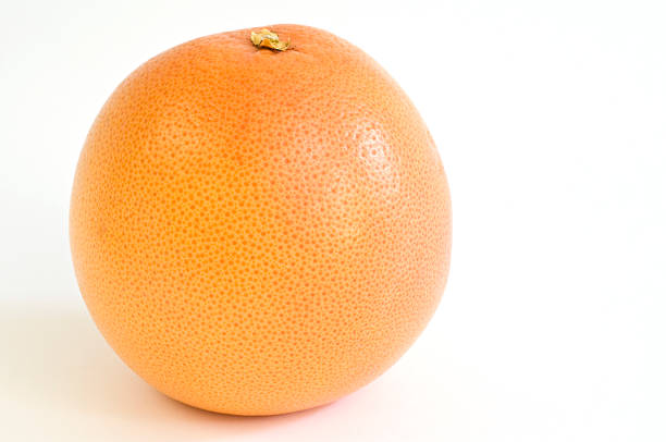 Grapefruit on a white background stock photo