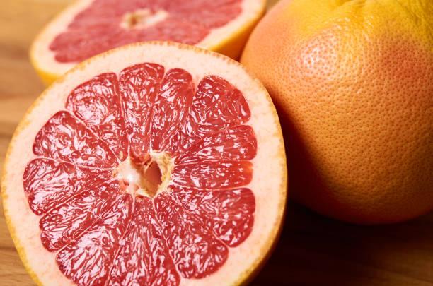 grapefruit ripe cut on a board