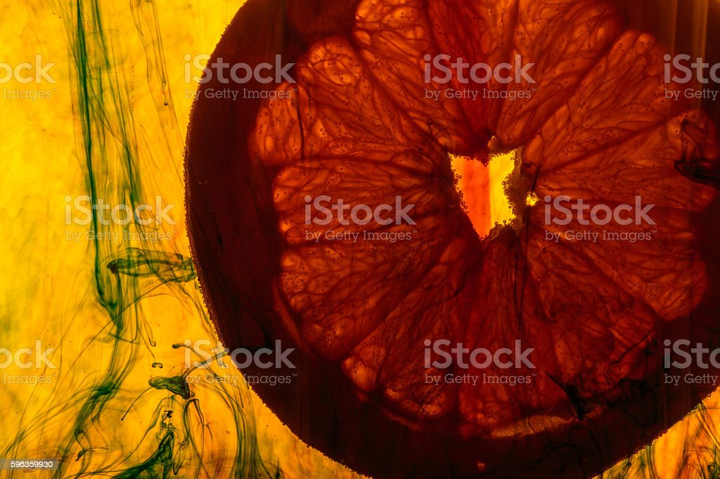 grapefruit slice royalty-free stock photo