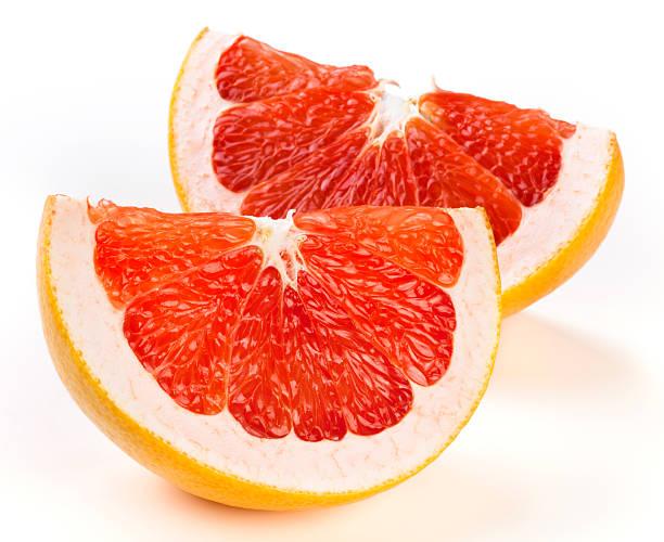 Grapefruit slices stock photo