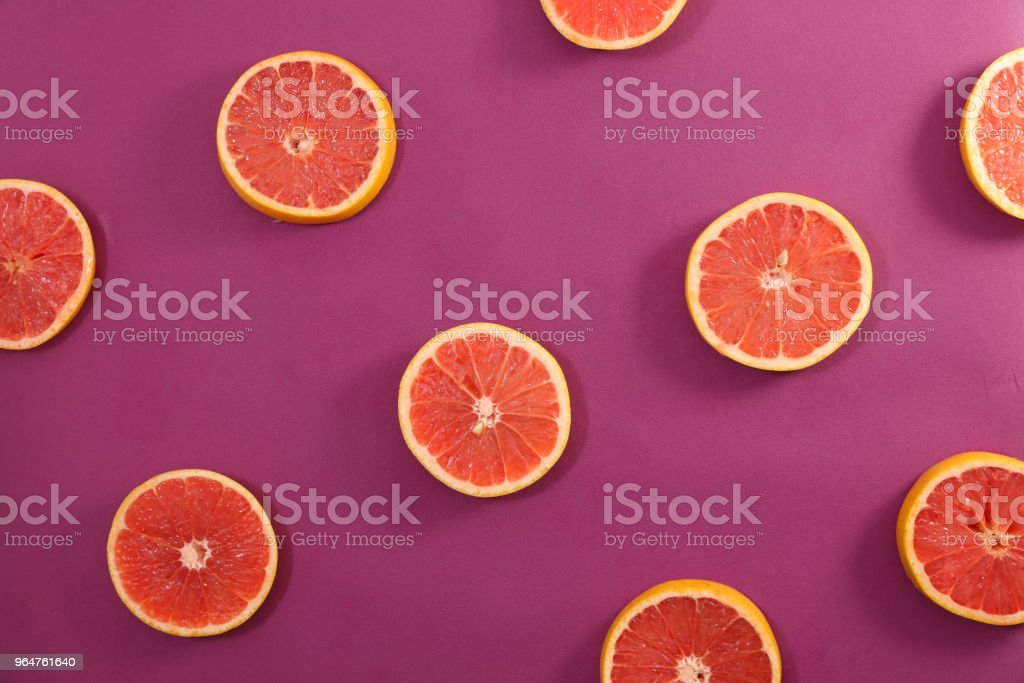 grapefruit slices royalty-free stock photo