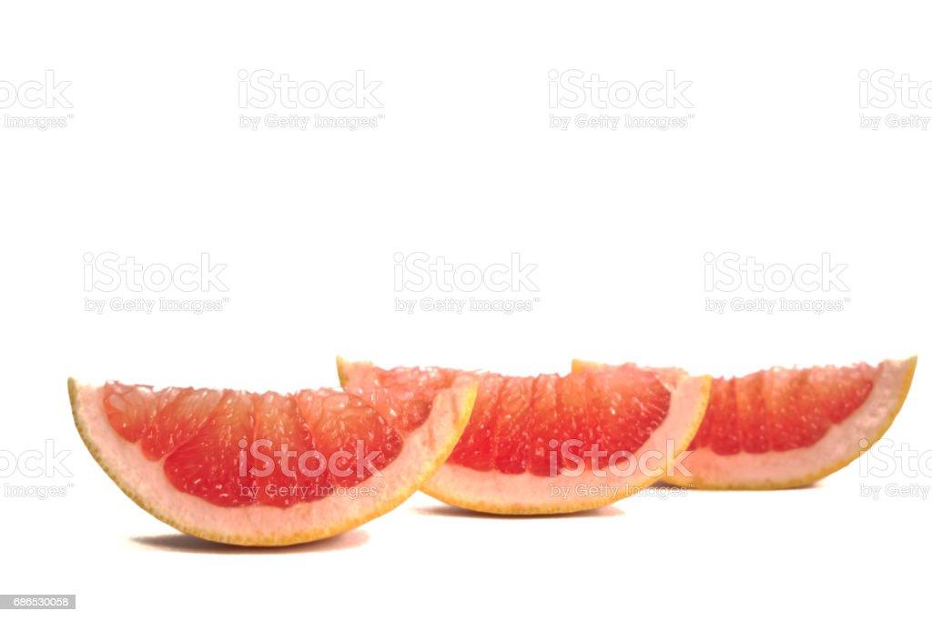 Grapefruit wiggen royalty free stockfoto