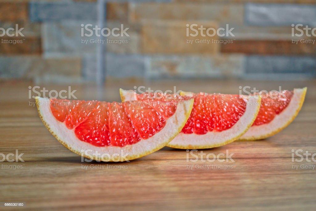 Grapefruit Wedges foto stock royalty-free