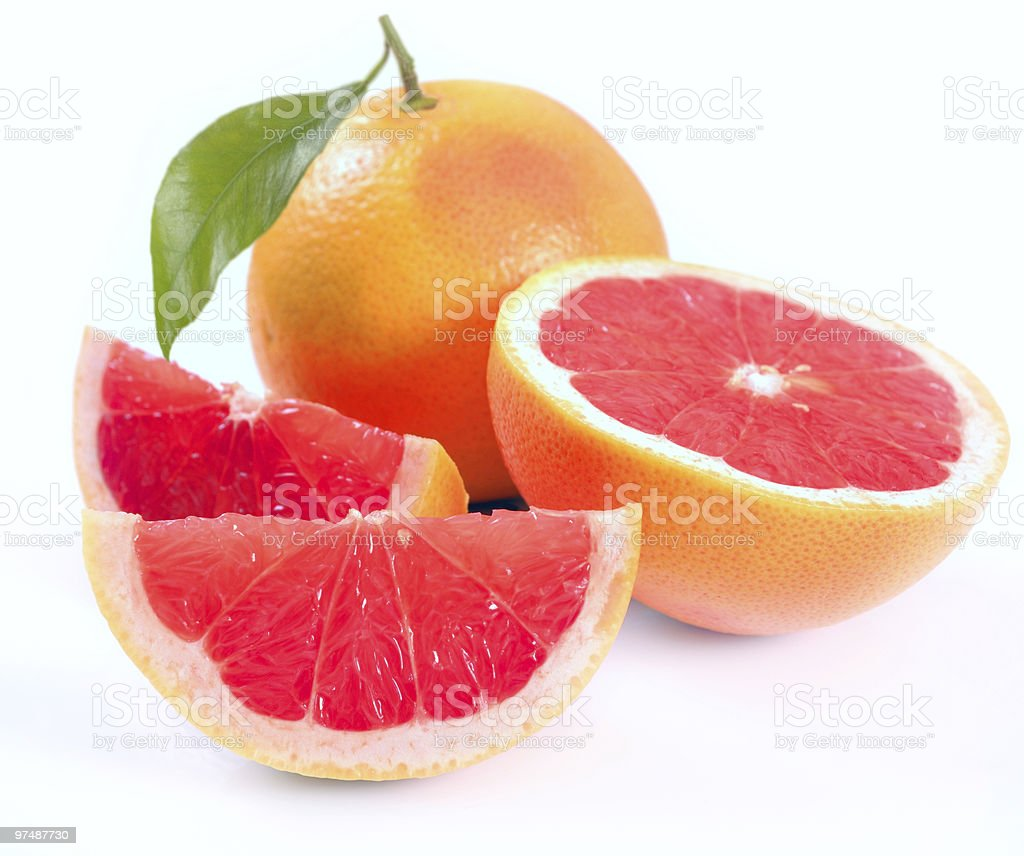 Grapefruit with segments royalty-free stock photo