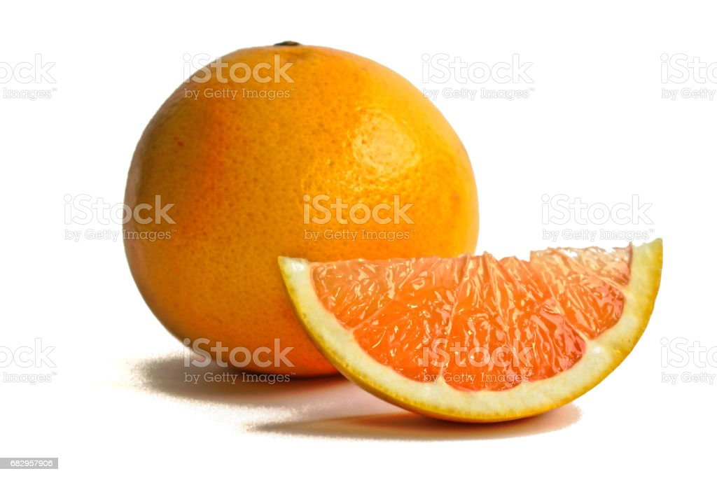 Grapefruits on a White Background royalty-free stock photo