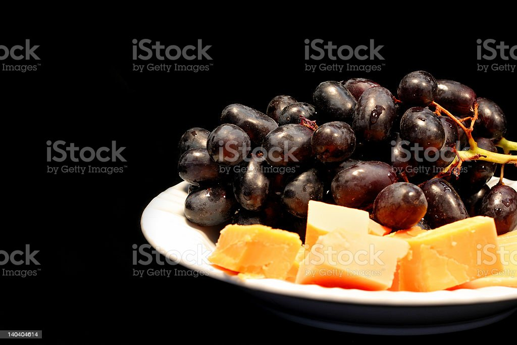 Grapes and Cheese royalty-free stock photo
