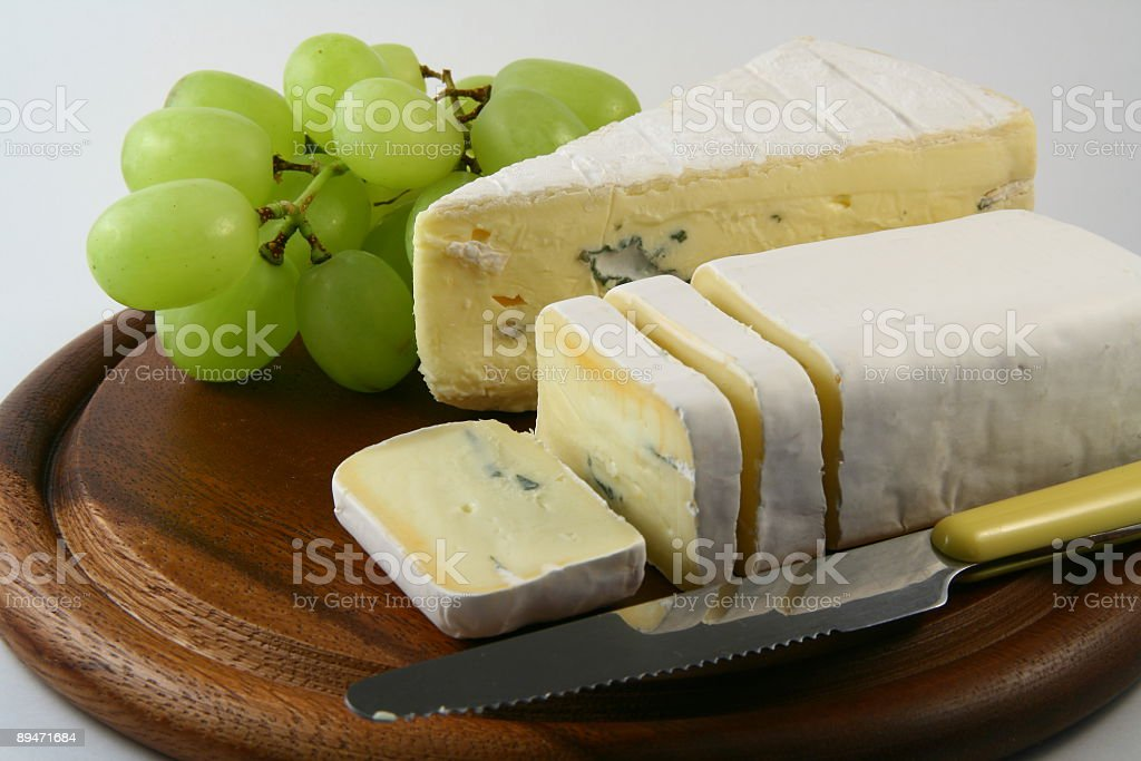 Grapes and Cheesse royalty-free stock photo
