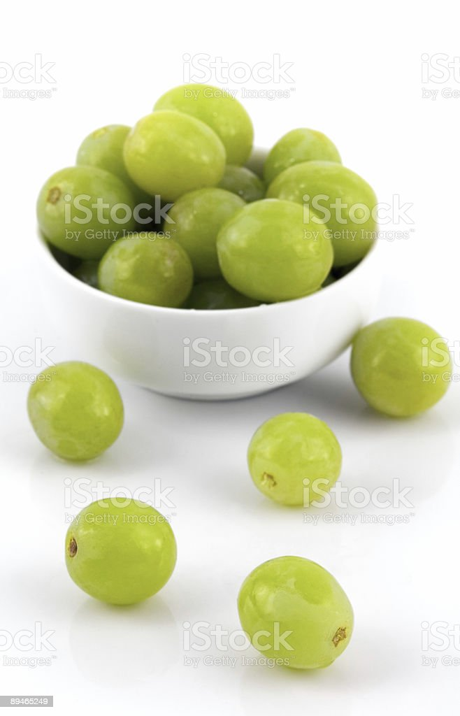 Grapes and White Bowl royalty-free stock photo