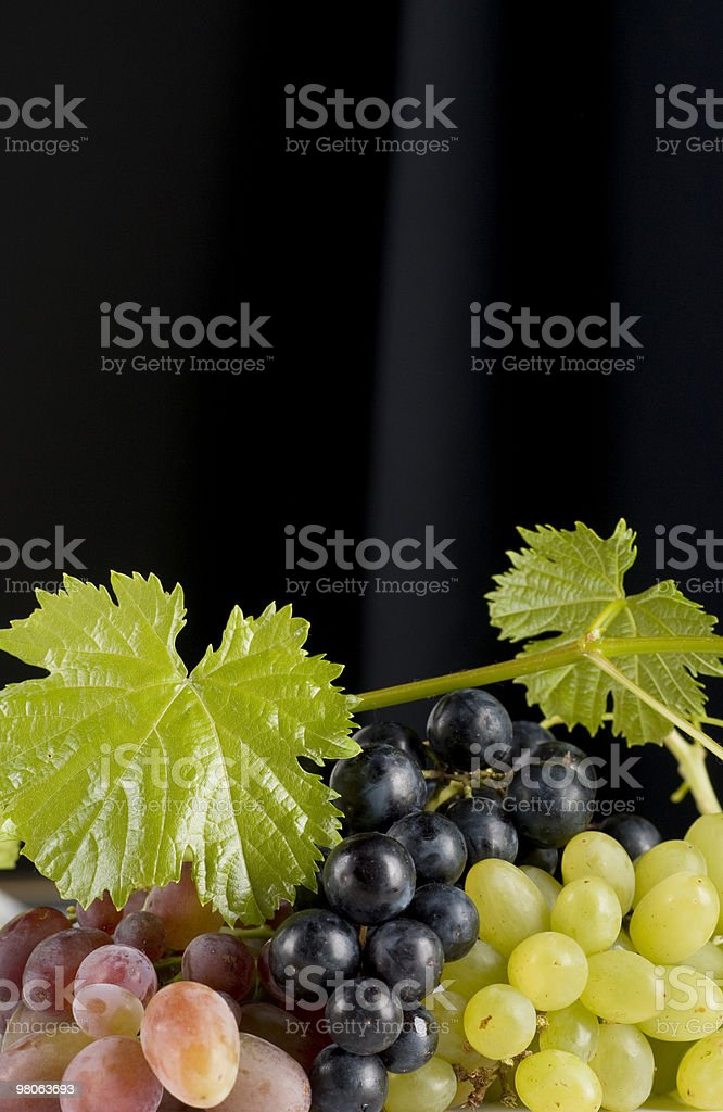 Grapes bunches on Black royalty-free stock photo