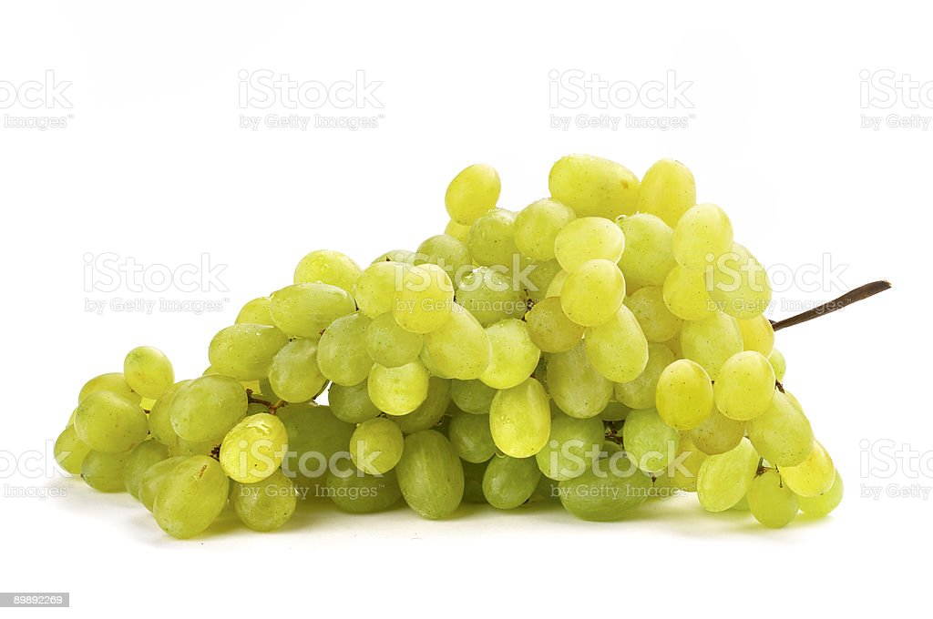 Grapes green ripe royalty-free stock photo