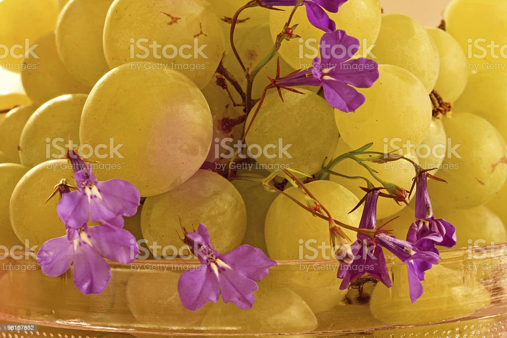 Grapes in a bowl royalty-free stock photo