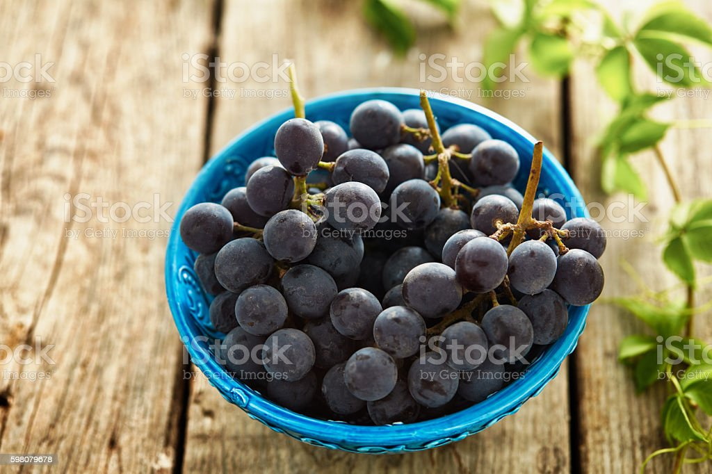 Grapes in a plate royalty-free stock photo
