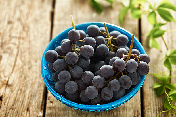 Grapes in a plate stock photo