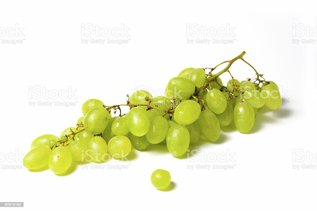 grapes isolated on white royalty-free stock photo