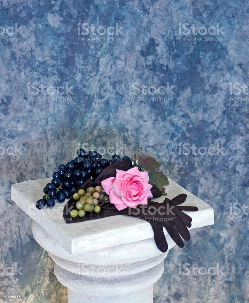 Grapes On A Pedestal royalty-free stock photo