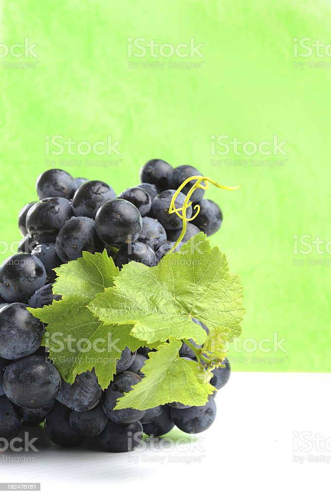 Grapes on Green royalty-free stock photo