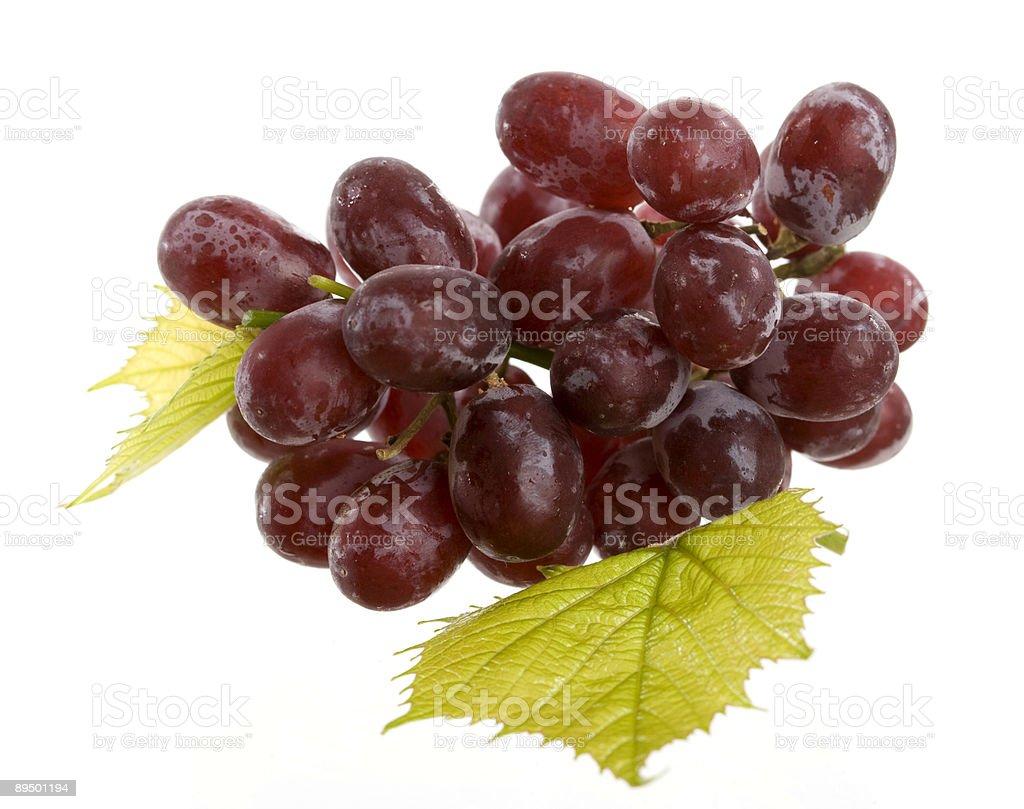 Grapes on white royaltyfri bildbanksbilder
