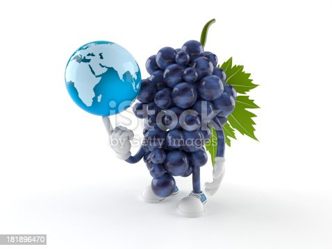 Grapes toon isolated on white background