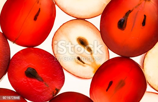 istock Grapes translucent macro background. 921972846