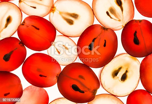 istock Grapes translucent macro background. 921973060