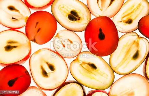 istock Grapes translucent macro background. 921973200