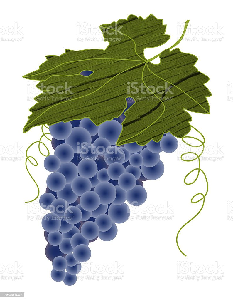 Grapes with leaf and texture royalty-free stock photo