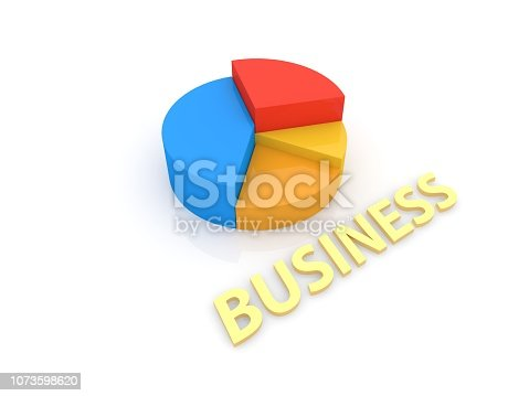 istock Graph and inscription business on a white background. 1073598620
