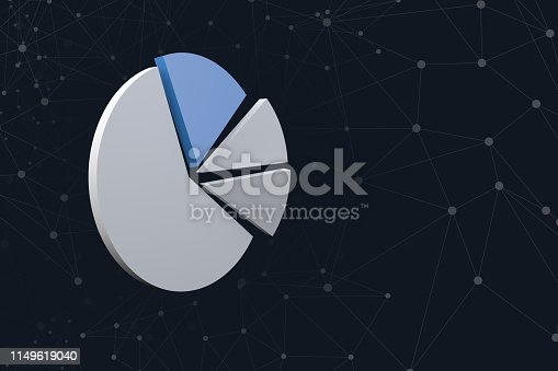 istock Graph Chart Image with Network Lines on Dark 1149619040