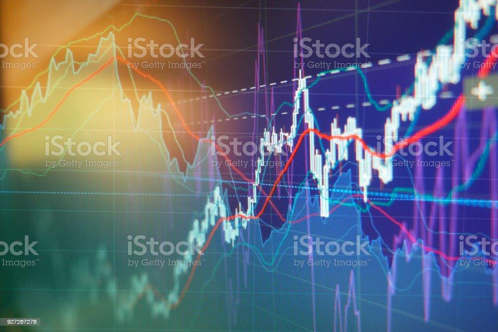Graph charts of stock market royalty-free stock photo