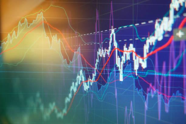 Graph charts of stock market stock photo