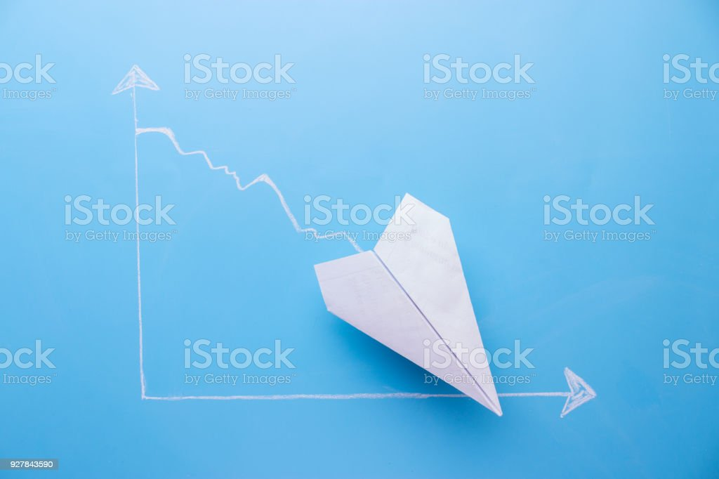 graph going down stock photo