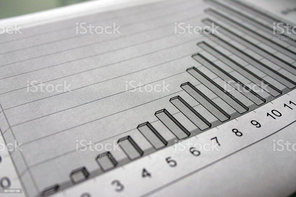 Graph indicating success royalty-free stock photo
