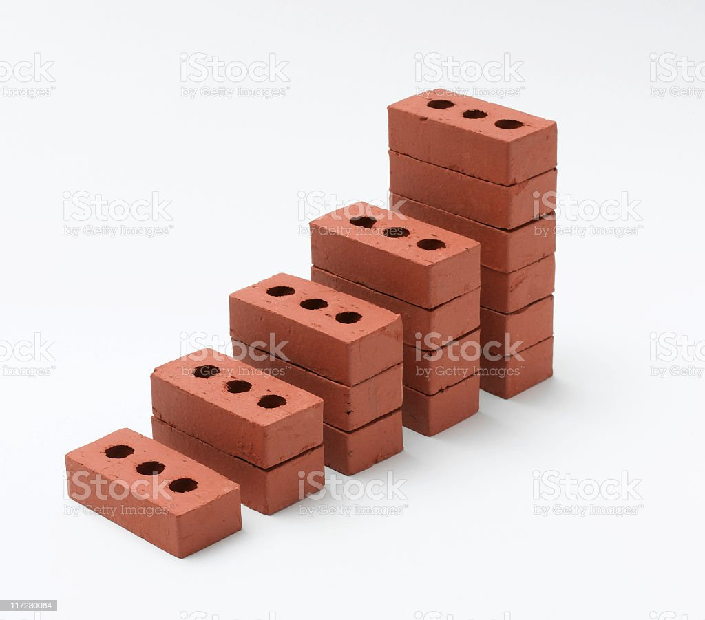 graph of bricks stock photo