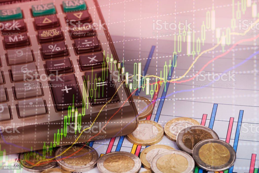Graph  of coins for finance and banking concept royalty-free stock photo