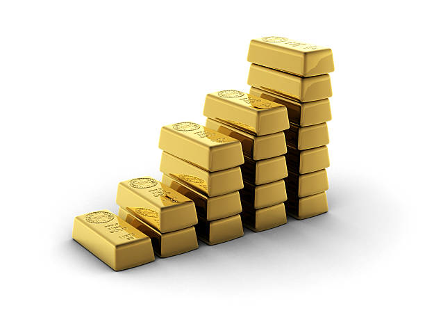 Graph of Gold (Clipping Path) stock photo