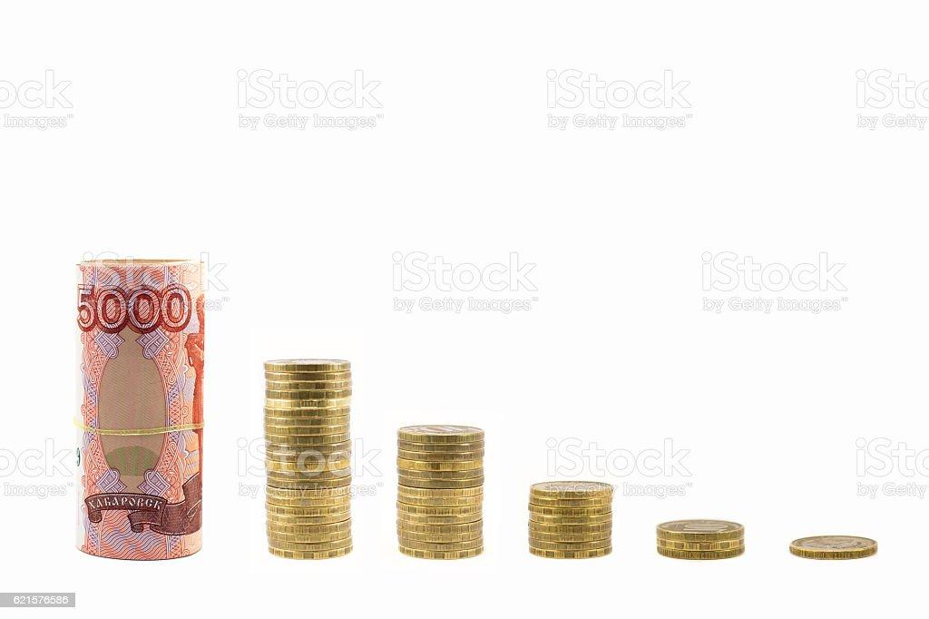 Graph of money falling photo libre de droits