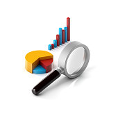 istock Graph of statistics and magnifying glass 1168191429